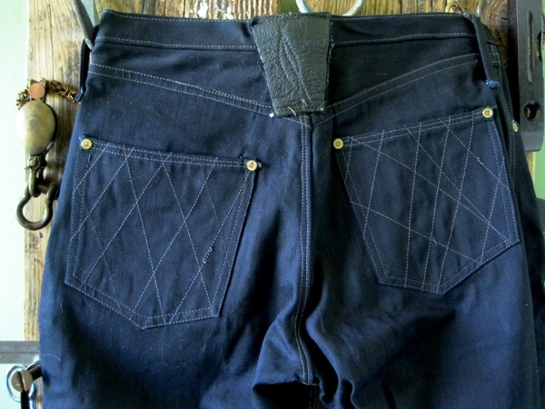 Brown, Deim Atlantique Shibori Raw Denim Jeans
