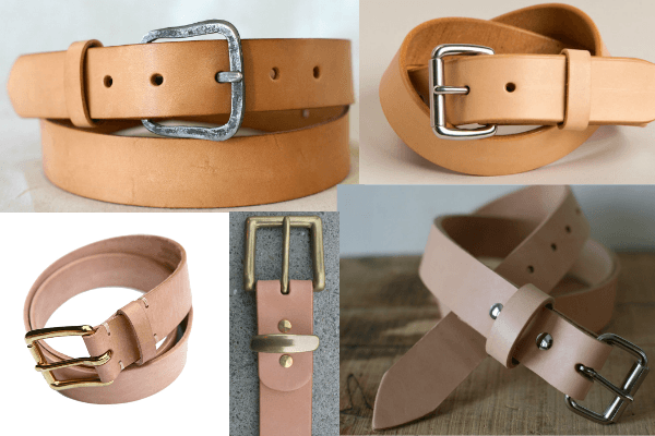 5 Natural Leather Belts That Complement Raw Denim