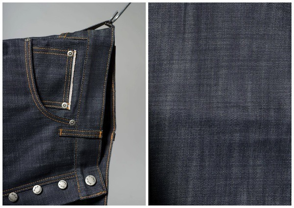 Details on the Nudie Jeans Organic PIMA Grim Tim Selvedge jeans