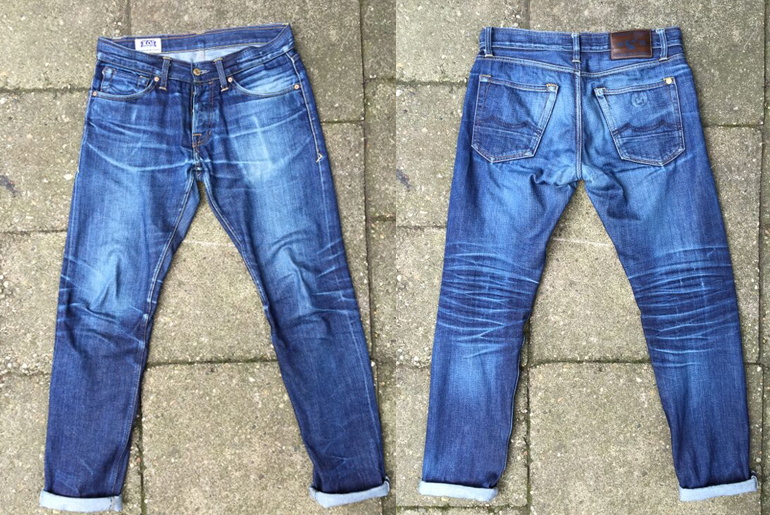 Fade of the Day - Kings of Indigo Clovis 12 oz. Organic (17 Months, 1 Wash)