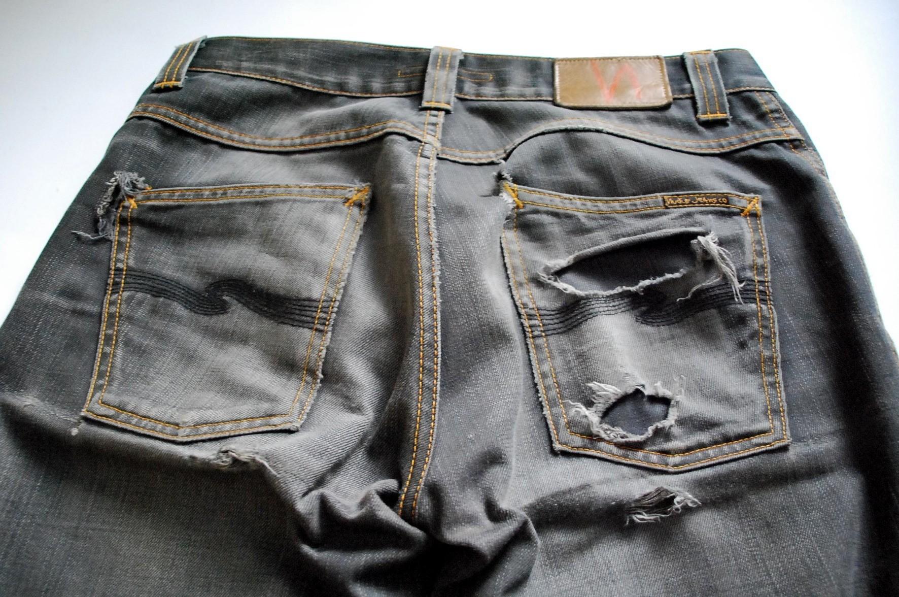 Nudie Jeans Co. Slim Jim Dry Grey Coated