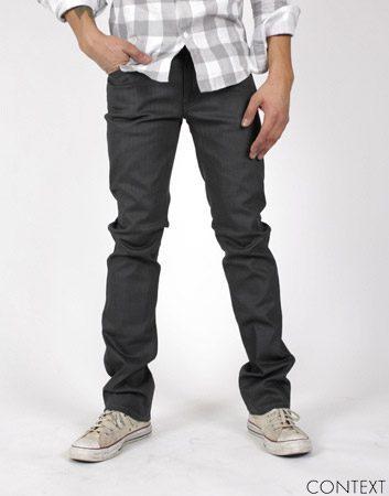 Nudie Jeans Co. Slim Jim Dry Grey Coated - Before