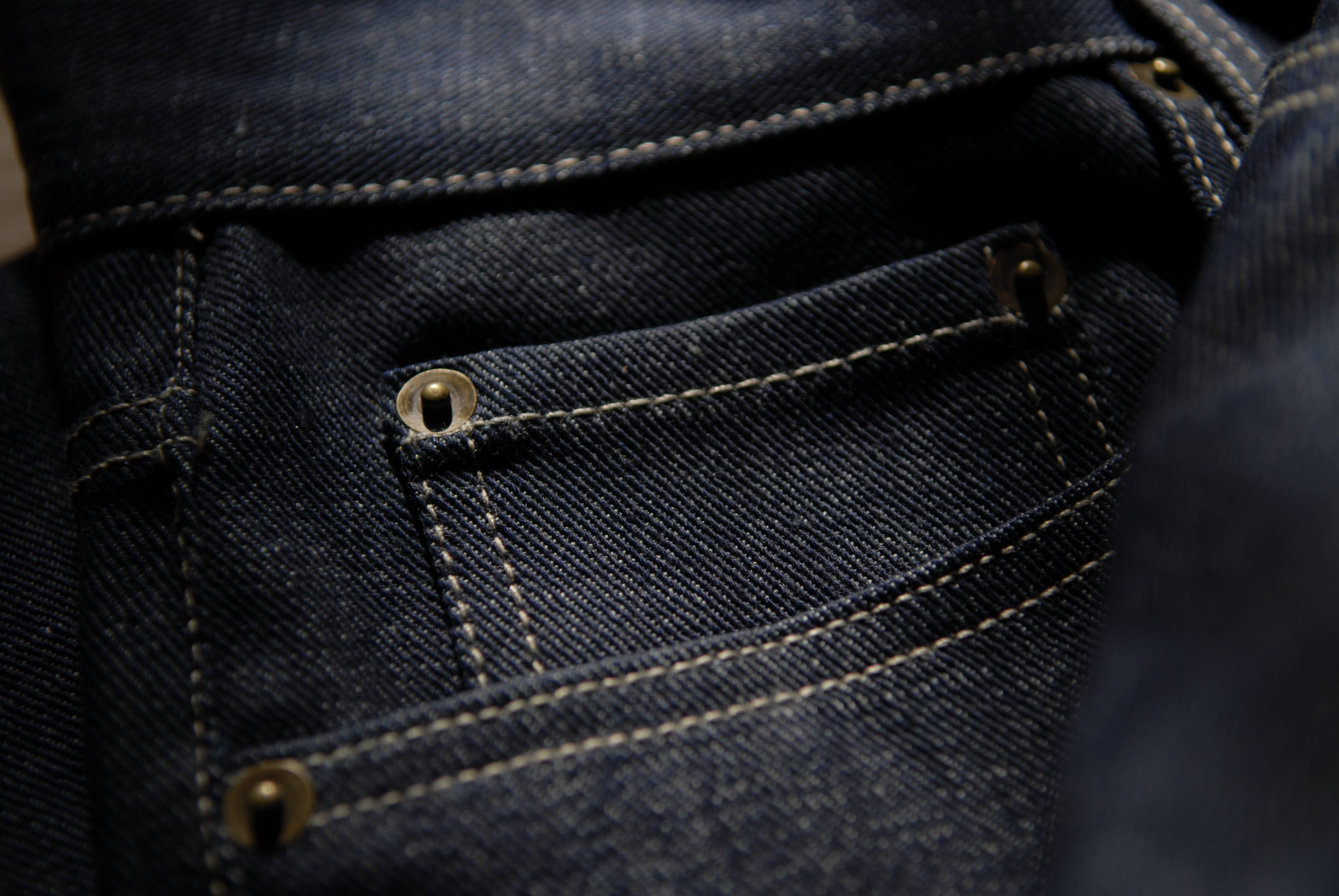 Ragged Hem Raw Denim - Brokeh Effect