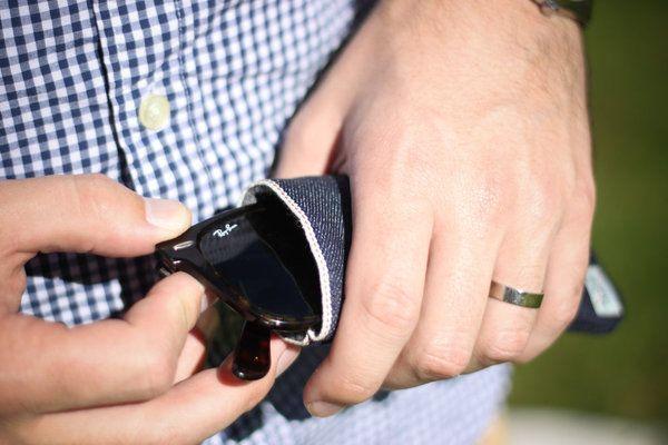 MS&Co. Wool Lined Selvedge Denim Glasses Sleeve