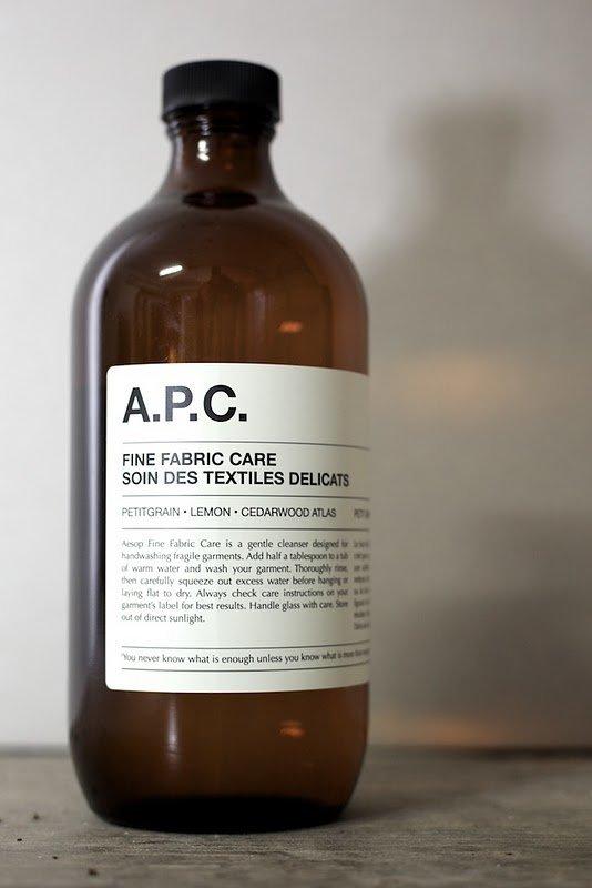 A.P.C. x Aesop Fine Fabric Care