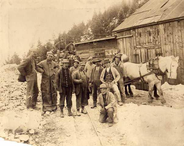 Gold Miners at Salina Mines, Colorado