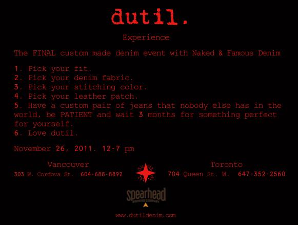 Dutil x N&F - Last Raw Denim Event
