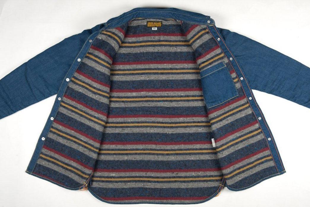 Iron-Heart-Blanket-Lined-8oz-Denim-Overshirt-Just-Released