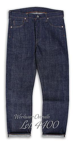 Workware Heritage Clothing Raw Denim Overalls Lot 4400