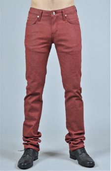 Naked and Famous Red Stretch Denim