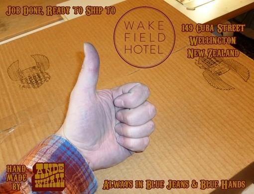 Ande Whall x Wakefield Hotel Raw Denim Jeans