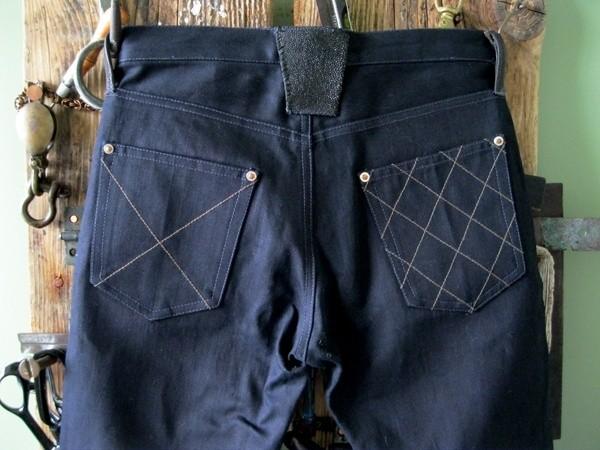 Brown, Deim Shogun Dragon-Fly Raw Denim Jeans