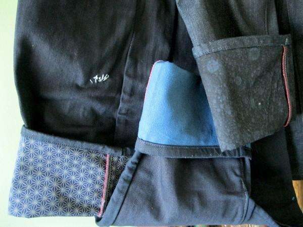 Brown, Deim Atlantique Shibori Raw Denim Jeans