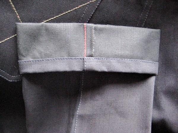 Brown, Deim Longitude Dragon-Fly Raw Denim Jeans