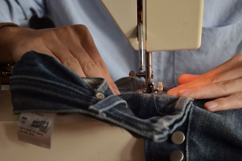 How To A Simple Guide To DIY Denim Repairs Beauteous How To Patch Jeans Without A Sewing Machine