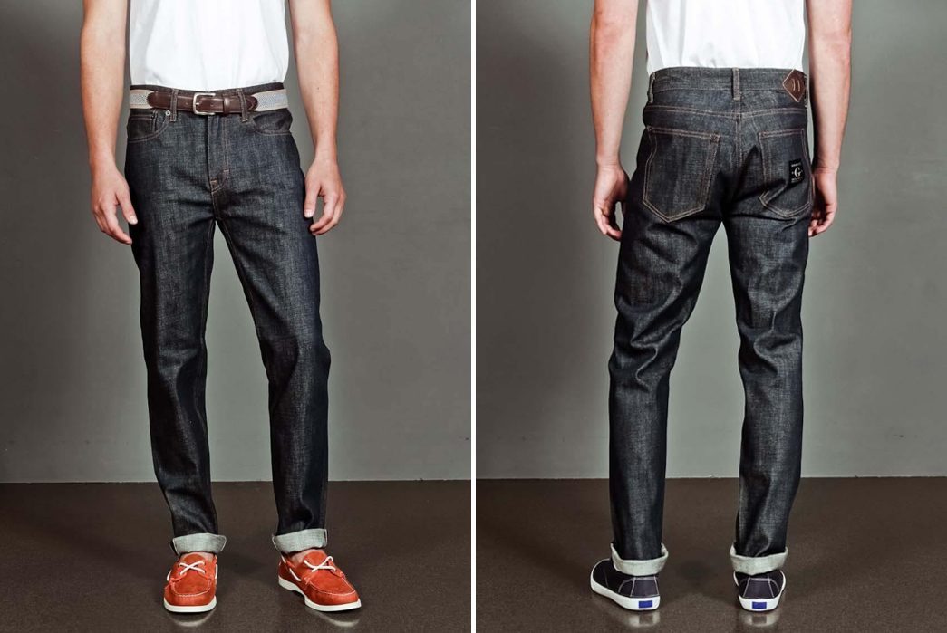 goodale-tailored-skinny-selvedge-raw-denim-front-back-model