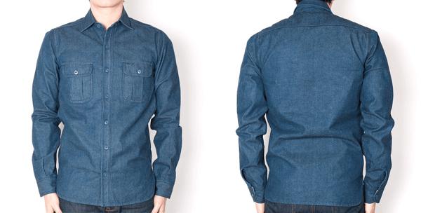 Fit - Blue Unbranded 10 Oz. Chambray Selvedge Denim Work Shirts