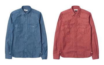 Unbranded 10 Oz. Chambray Selvedge Denim Work Shirts