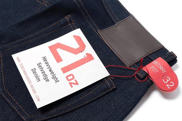 Back Pocket Flasher - Unbranded 121 21 oz. Heavyweight Selvedge Denim