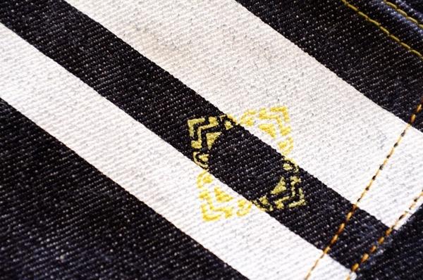 Back Pocket Detail - Momotaro X Indigoskin 16.7 Oz 0701