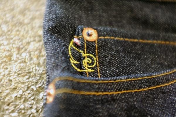 Specially branded coin pocket - Momotaro X Indigoskin 16.7 Oz 0701