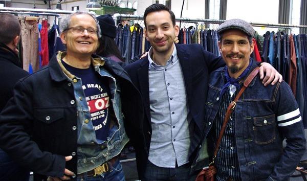Heddels's Ruedi Karrer (Left) and Paul Travi (Right) with Naked & Famous' Brandon Svarc