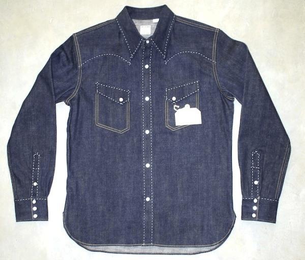 The Flat Head 7007 Western Denim Shirt