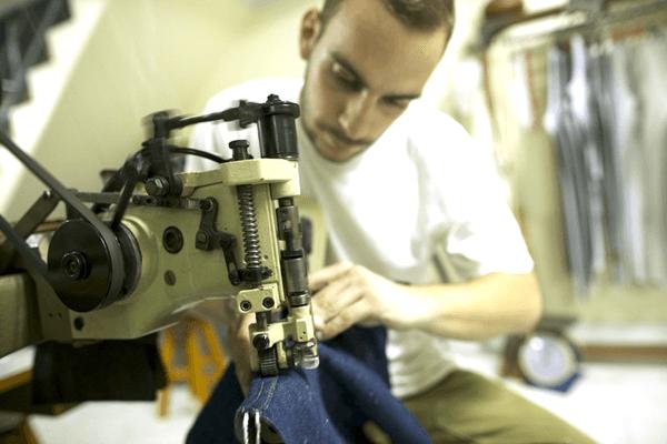 Ben Viapiana at his workstation in the Viapiana workshop