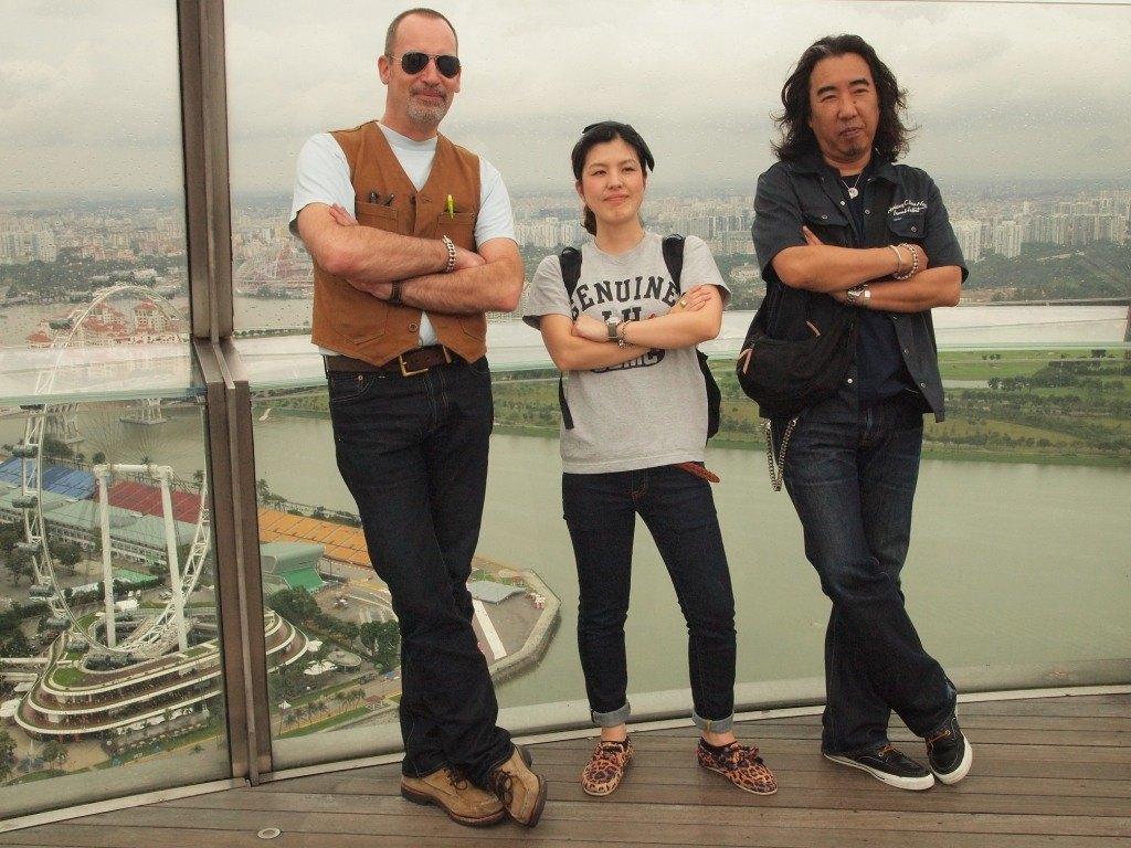 Giles, Sarina-chan, Haraki-san (right)