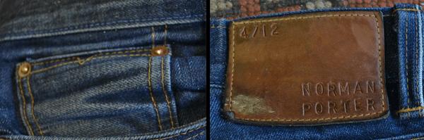 Coin Pocket, Patch - Norman Porter Standard Denim (8 Months, 2 Washes)