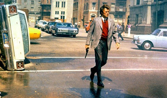 Eastwood as conservatively dressed Inspector Harry Callahan.