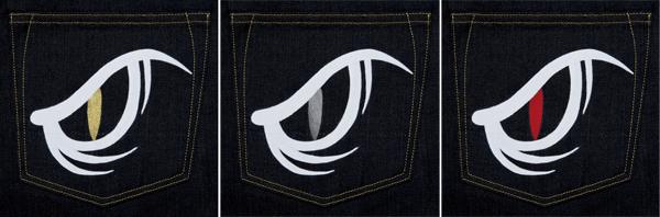 Pocket - EVISU Snake Eyes Hand-Painted Denim