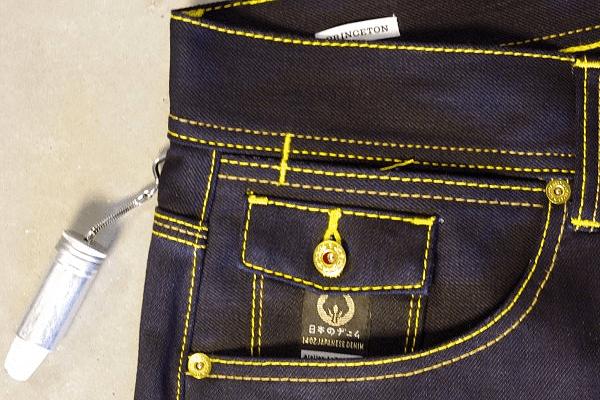 Coin pocket and hidden pocket detail