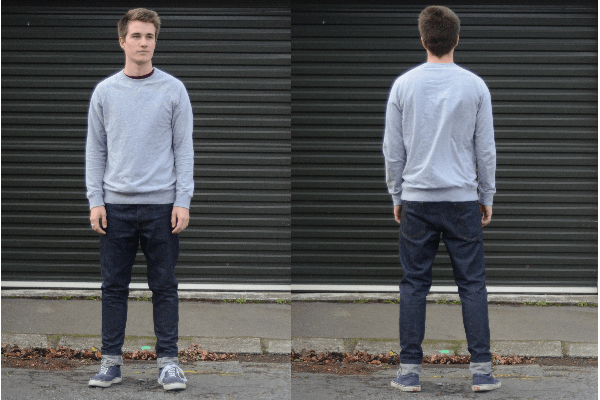 Front and Back Fit - i love ugly Raw Selvedge Denim