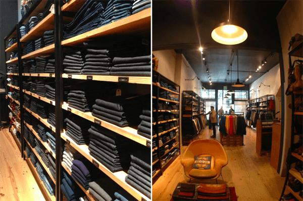 Unionmade shelves of denim