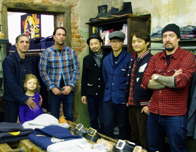 From left to right: Frank Heitmann, Daniel Cizmek, Takeshi Kojima (R.J.B.Designer), Yamada Shunsuke, Masake Horiuchi (TFH president Kobayashi's right hand man) and Ollie Paff.