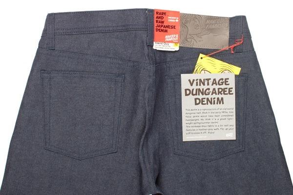Back Close-Up - Naked & Famous Vintage Dungaree 9.75oz Denim