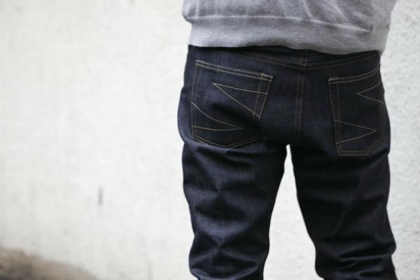 The Noir Jean001 Back Pocket Stitching