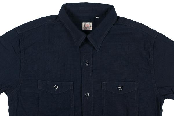 The Flat Head Glory Park Indigo Dyed Linen Shirt