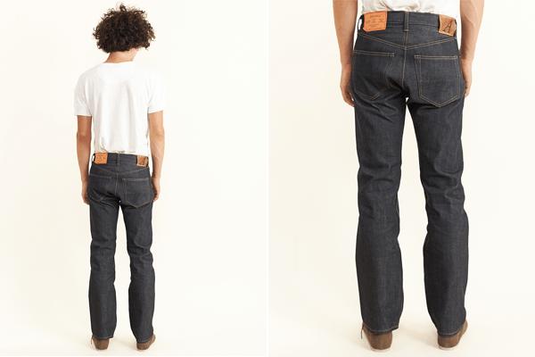 Back Fit - Anatomica Tubular Seamless Leg Raw Denim Jean