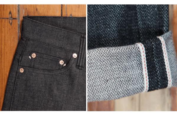 Noir Jean001 Black Details