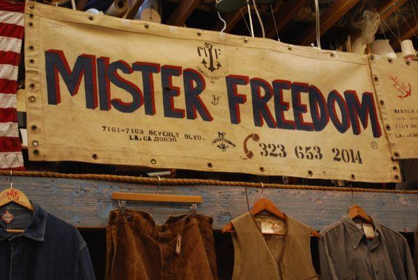 Mister Freedom Interior Signage