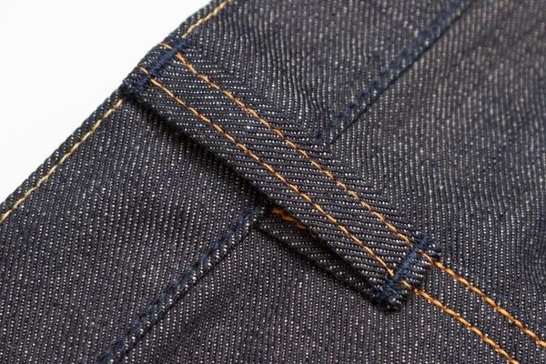 Beltloops stitched under waistband