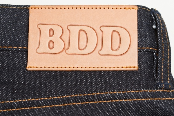 Reversed debossed leather patch