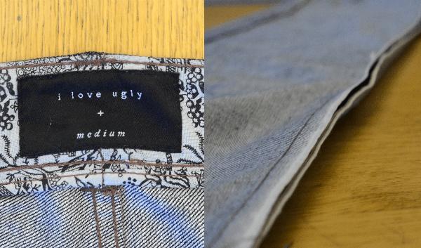 ILU Japanese Selvedge Denim. Osaka lining, size badge and un-ironed selvedge seam