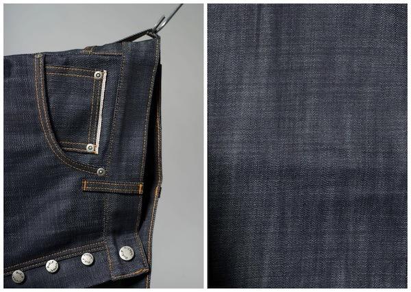 Details on the Nudie Jeans Organic PIMA Grim Tim Selvedge jeans