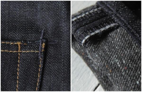 Details of the Edwin Selvedge Denim and Blanket Denim