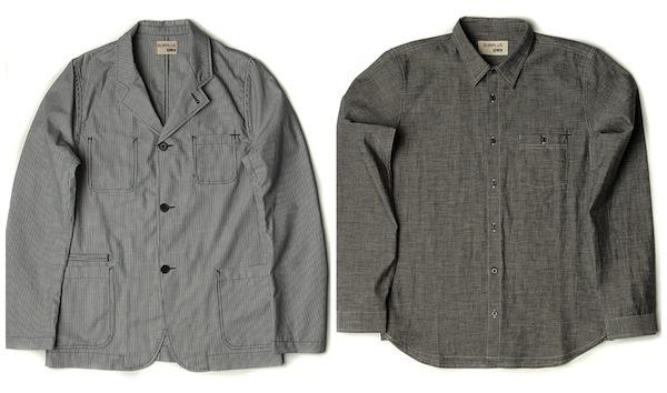 Edwin Hockory Stripe Jacket and Japanese Black Chambray Shirt