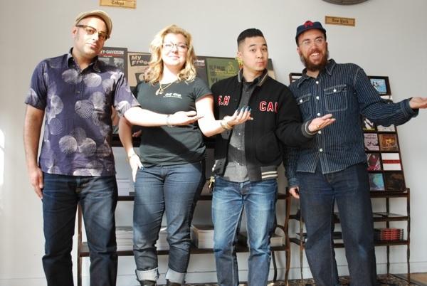 From left: Kiya Babzani, Demitra Babzani, Johan Lam, and Tyler Madden.