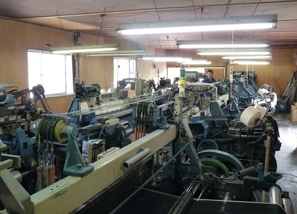 Inside the shuttle loom factory.